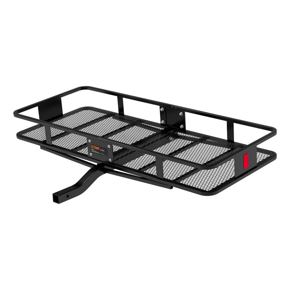 CURT 500 lb. Capacity 60 inch x 24 inch Steel Basket Style Hitch Cargo Carrier for 2 inch Receiver (18152)