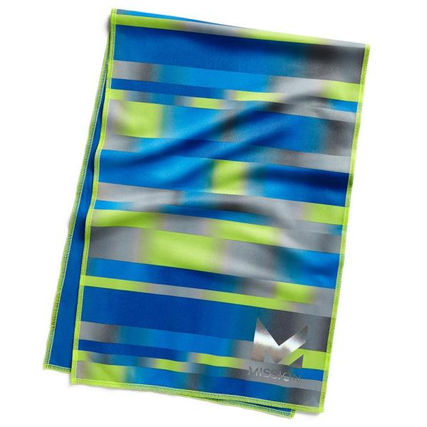 Hydro Active Max 11 in. x 33 in. Bandwidth Cobalt Blue Cooling Towel