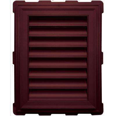 18 in. x 24 in. Classic Brickmould Gable Vent in Wineberry