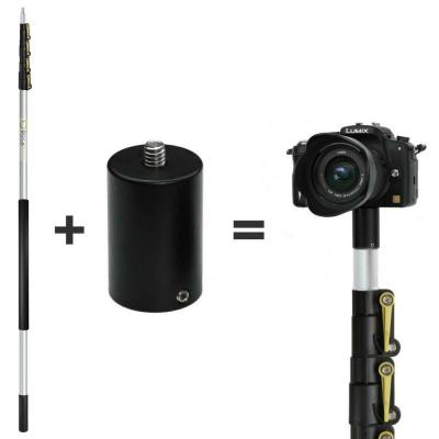 6 ft. to 24 ft. Extension Pole Plus ClickSnap Camera Adapter for GoPro, Camera or Video Camera