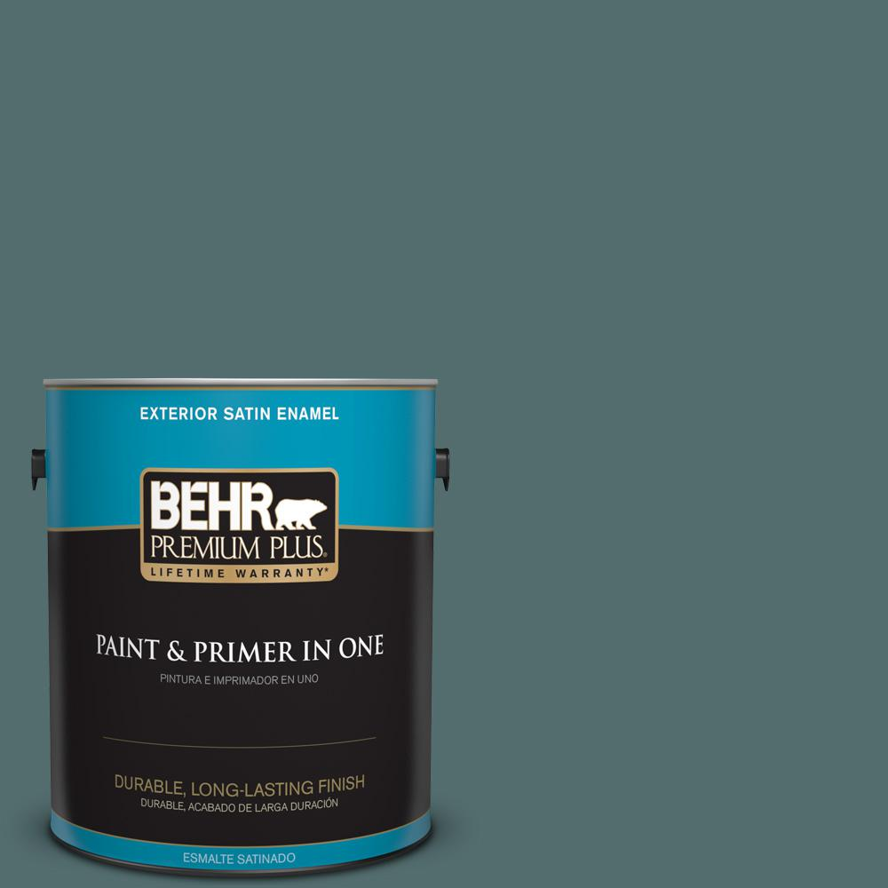 1 gal. #PPU12-02 Sequoia Lake Satin Enamel Exterior Paint