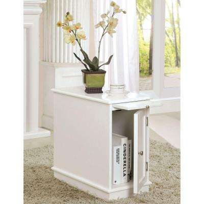 Lucer White End Table
