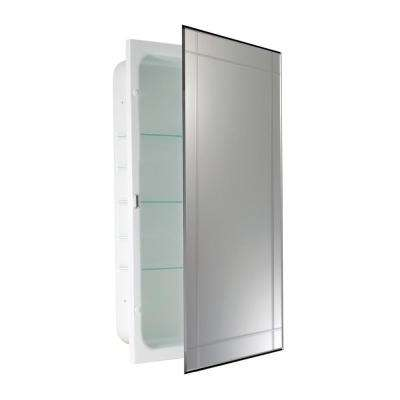16 in. W x 26 in. H x 4.5 in. D Prism V-Groove Recessed Medicine Cabinet