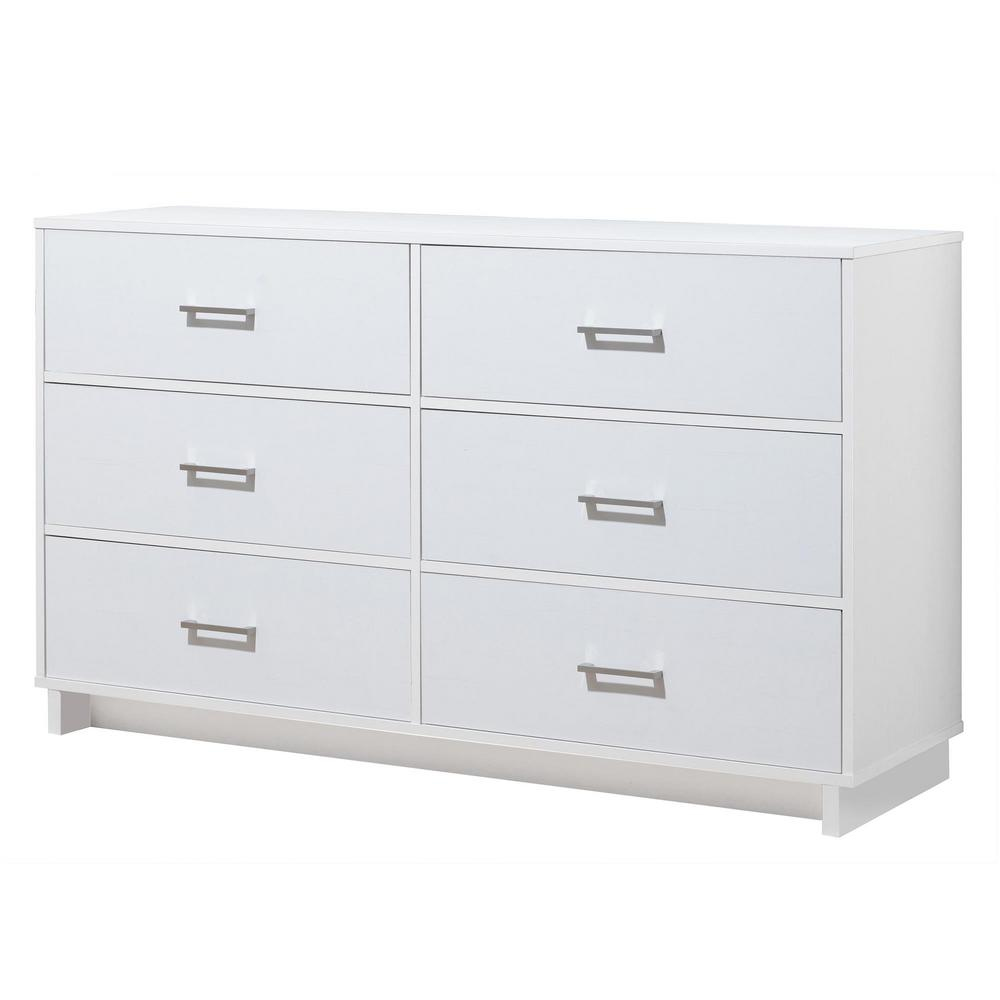 Ameriwood Home Smithfield 6 Drawer White Dresser Without Mirror