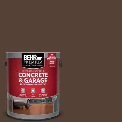1 gal. #PFC-25 Dark Walnut Self-Priming 1-Part Epoxy Satin Interior/Exterior Concrete and Garage Floor Paint