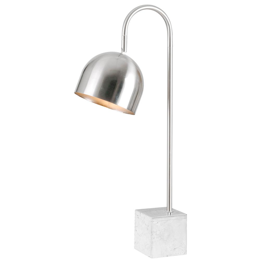 Kenroy Home Maverick 27 In Ch Chrome Desk Lamp With Marble Base