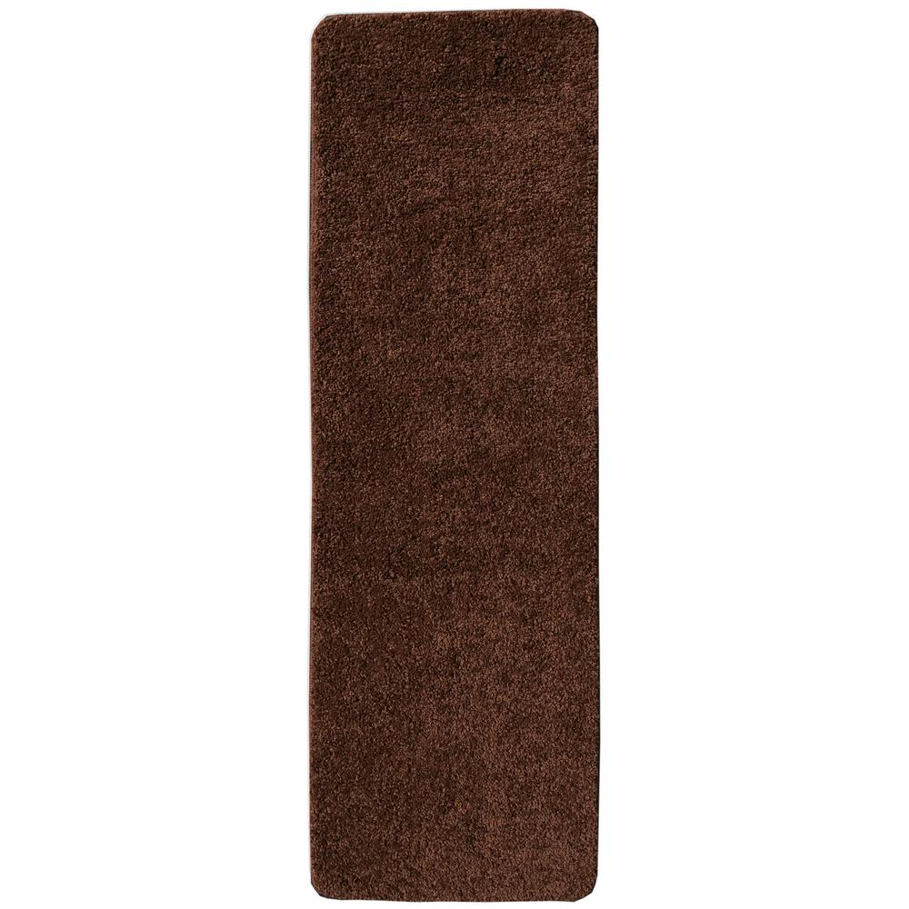 Comfort Collection Brown 9 in. x 26 in. Rubber Back Plush