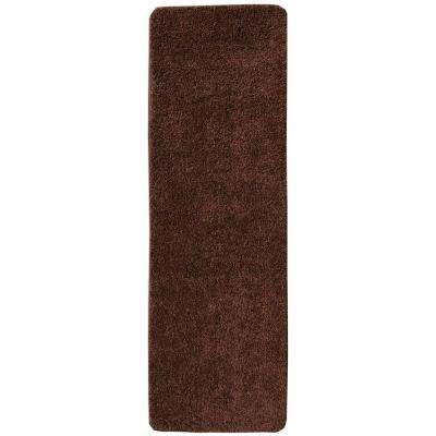 Comfort Collection Brown 9 in. x 26 in. Rubber Back Plush Stair Tread (Set of 7)