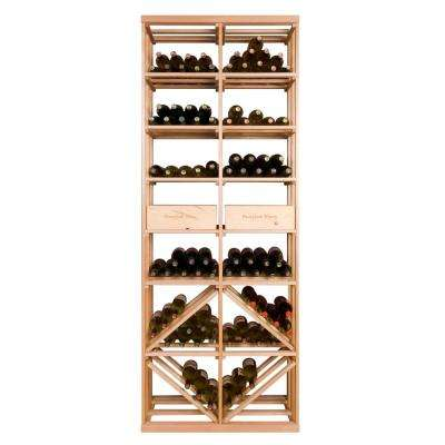 12-Bottle Pine Floor Wine Rack