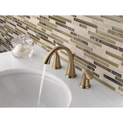 Lahara 8 in. Widespread 2-Handle Bathroom Faucet with Metal Drain Assembly in Champagne Bronze