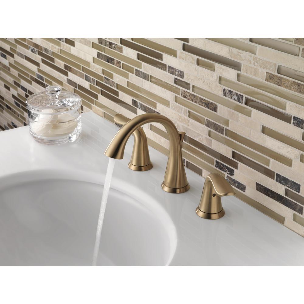 Delta 3538-CZMPU-DST Lahara 2-Handle Widespread Bathroom Faucet champagne bronze