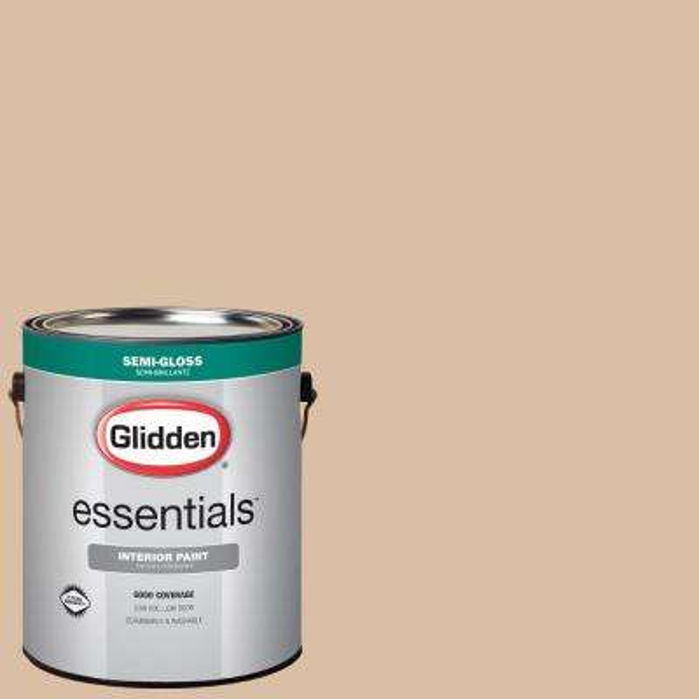 1 gal. #HDGO49 Dapper Tan Semi-Gloss Interior Paint