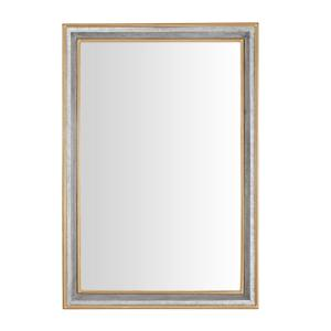 Large Rectangle Galvanized Antiqued Farmhouse Accent Mirror (41 in. H x 28 in. W)