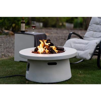 30 in. 50000 BTU Round Propane Fire Pits Table with Free Lava Rocks
