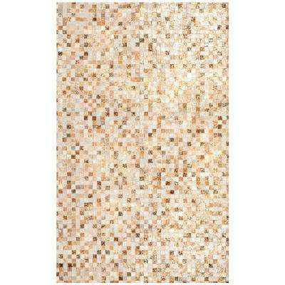 Studio Leather Ivory/Gold 4 ft. x 6 ft. Area Rug