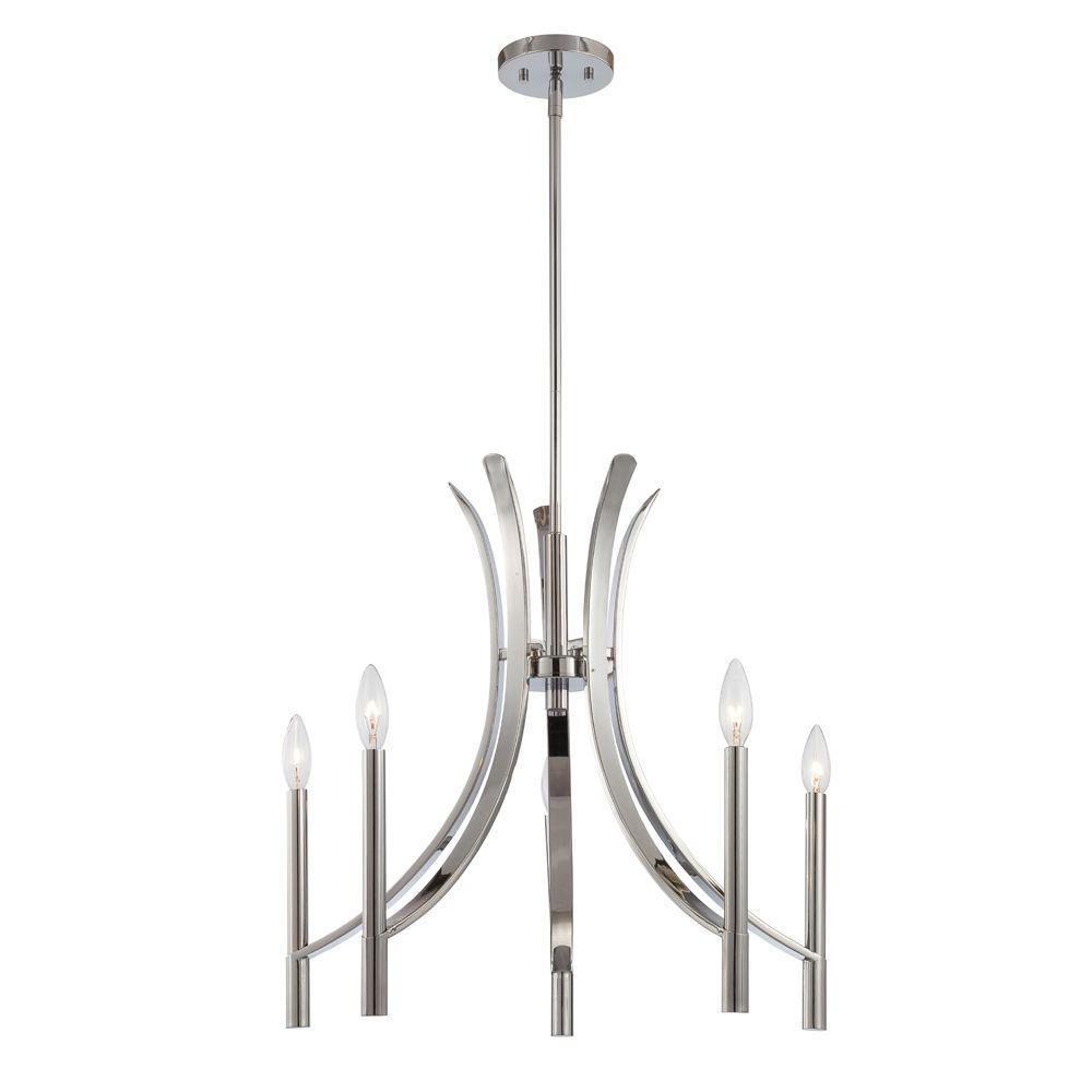 Cordova 5-Light Chrome Interior Incandescent Chandelier
