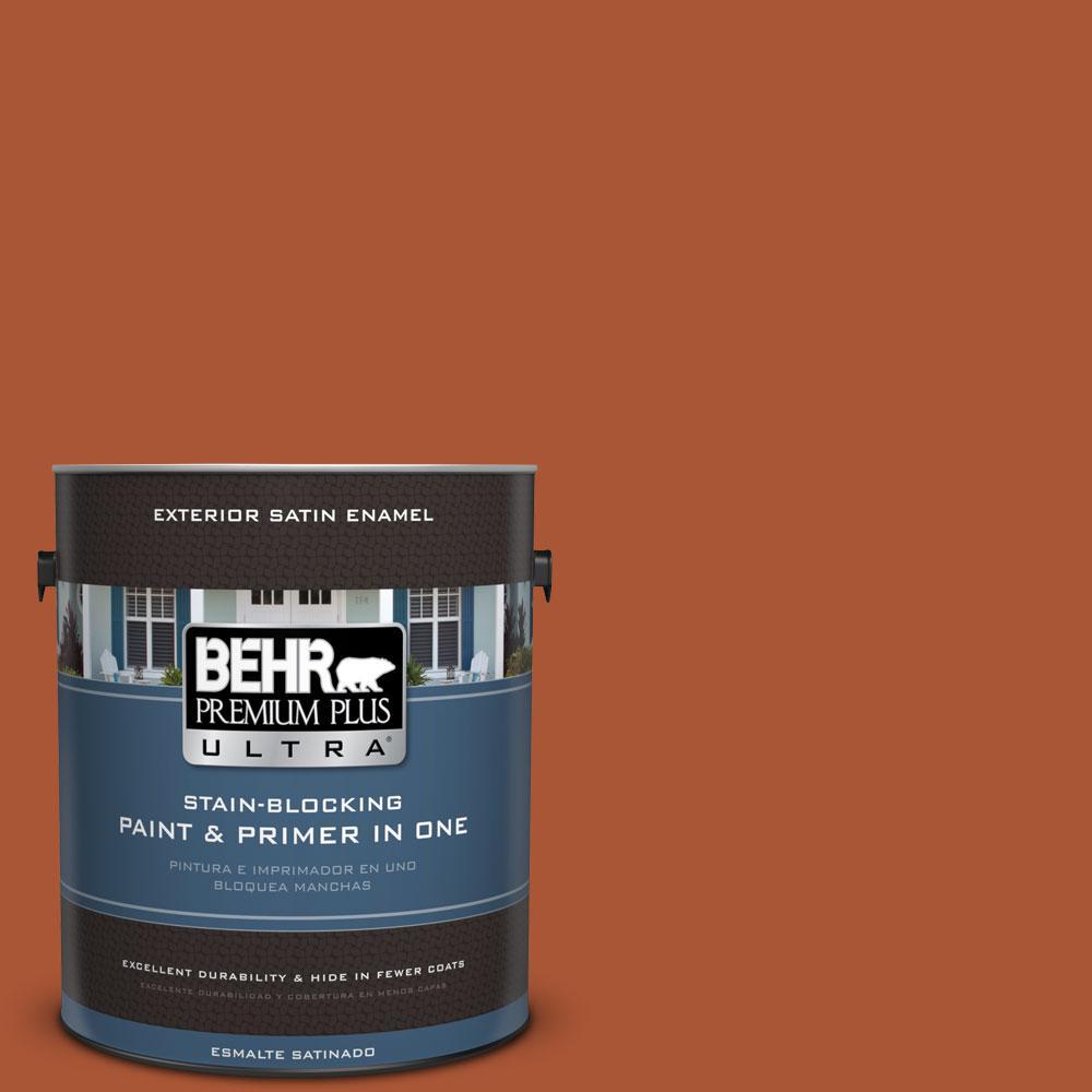 BEHR Premium Plus Ultra 1-gal. #S-H-240 Falling Leaves Satin Enamel Exterior Paint