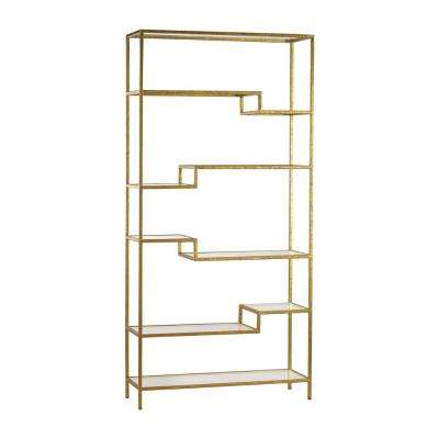 Gold Open Bookcase