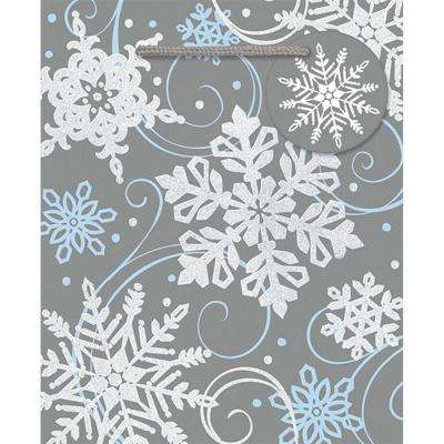 5.5 in. x 4.5 in. x 2.625 in. Whimsical Snowflake Bags (24-Pack)