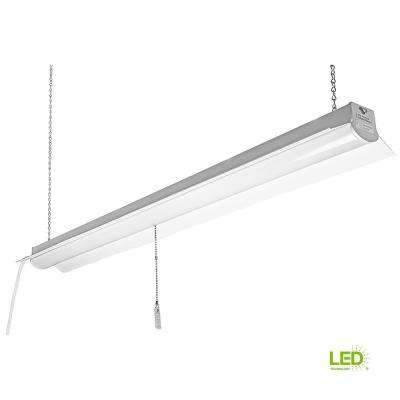 4 ft. Bright and Cool White Integrated LED Linkable Shop Light Fixture (4 Pack)