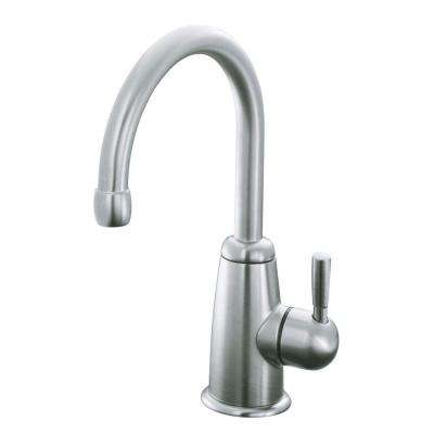 Wellspring Single Handle Bar Faucet with Aquifer Water Filtration System in Vibrant Stainless Steel