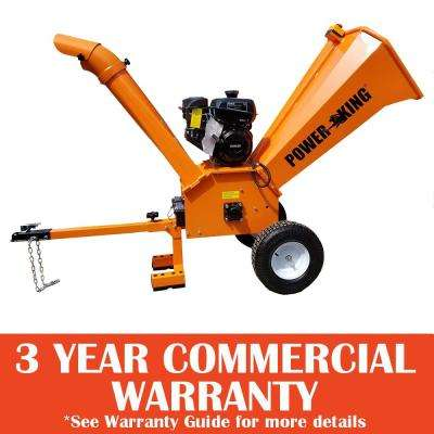 4 in. 9.5 HP Gas Commercial Powered Chipper Shredder with Removable Tow Hitch Bar