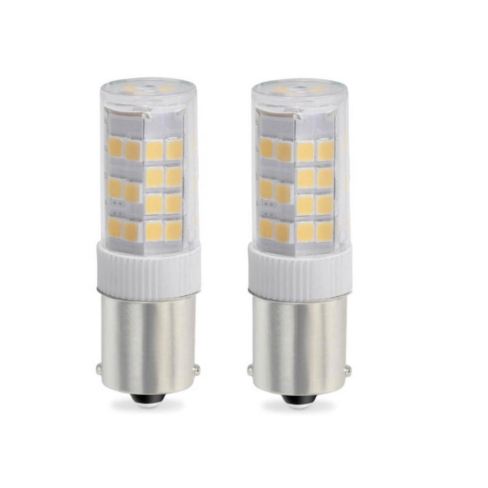 35-Watt Equivalent T4 Dimmable Single-Contact Bayonet LED Light Bulb Warm White Light (2-Pack)