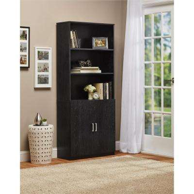Moberly Black Bookcase