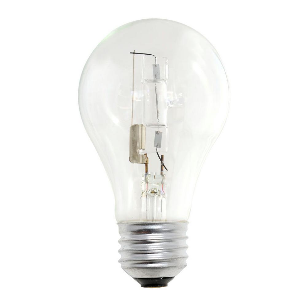 Bulbrite 29-Watt Equivalent A19 Dimmable Soft White Halogen Light Bulb (12-Pack)