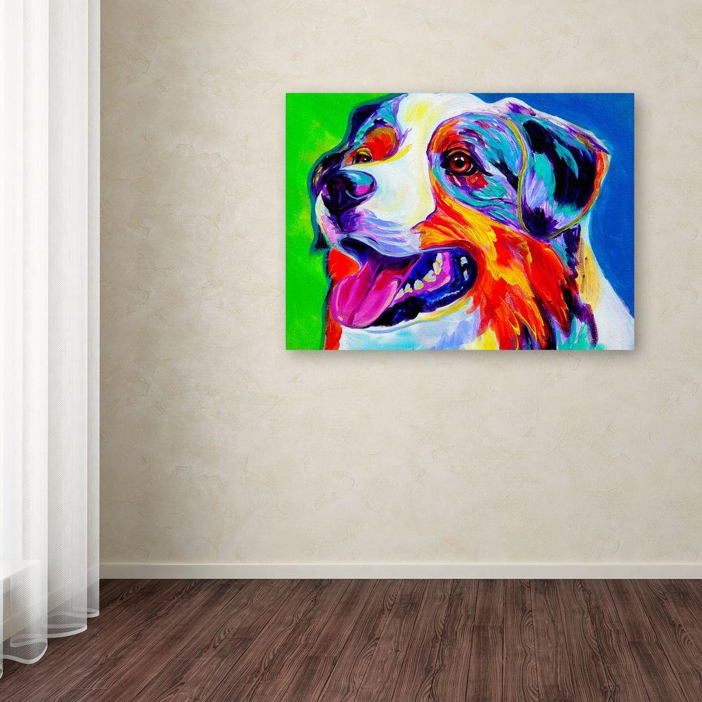 """18 in. x 24 in. """"Aussie"""" by DawgArt Printed Canvas Wall"""