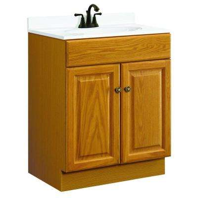 Claremont 24 in. W x 18 in. D Two Door Unassembled Vanity Cabinet Only in Honey Oak