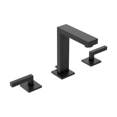 Duro 8 in. Widespread 2-Handle Bathroom Faucet with Pop-Up Drain Assembly in Matte Black