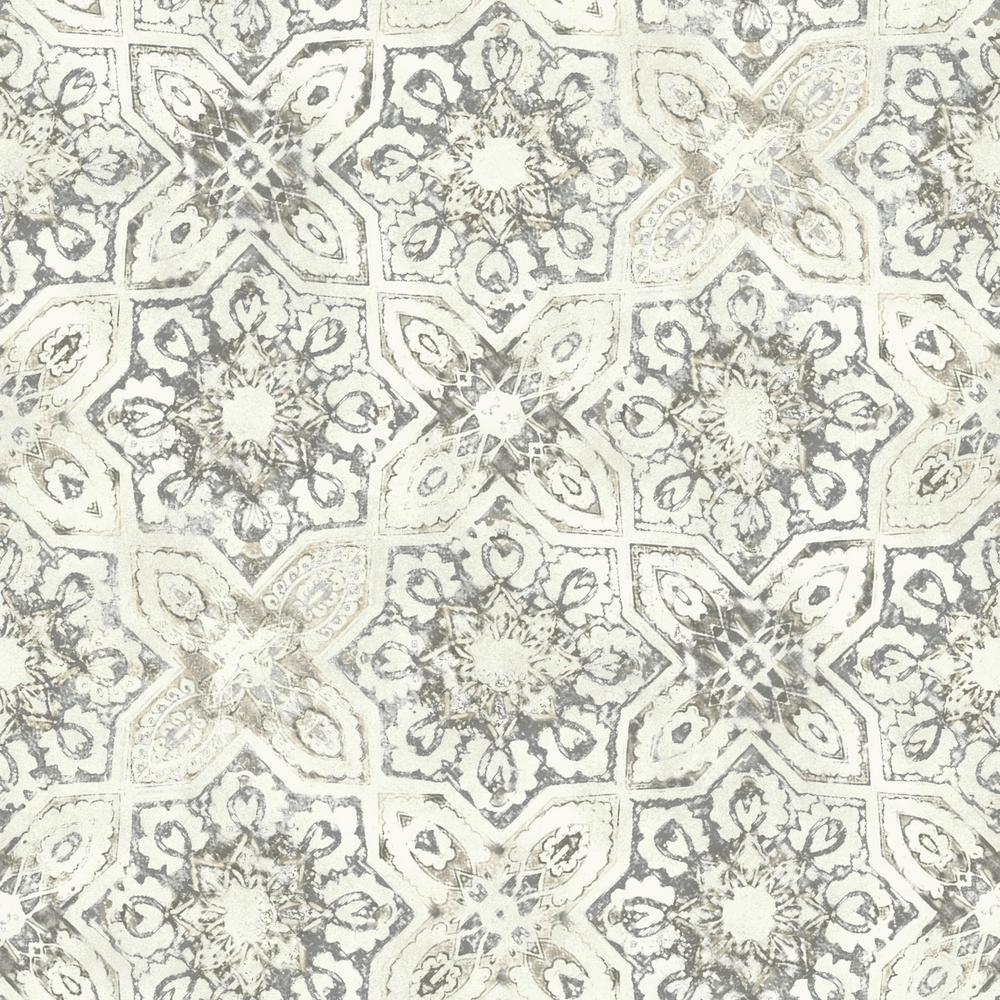 York Wallcoverings Patina Vie Fatima Tiles Wallpaper