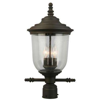 Pinedale 3-Light Outdoor Matte Bronze Post Light