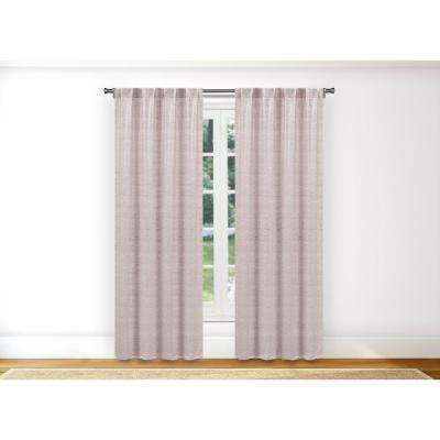 Maddyson Metallic Blush Room Darkening Pole Top Panel Pair - 38 in. W x 96 in. L in (2-Piece)