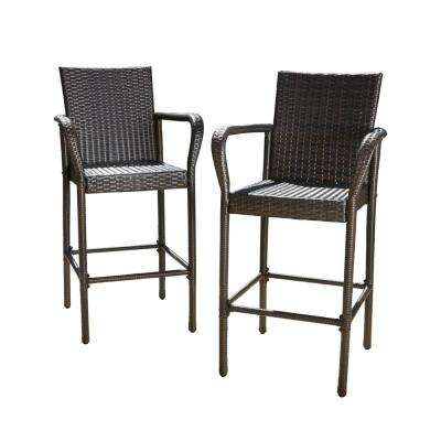 Delfina Wicker Outdoor Bar Stool (2-Pack)