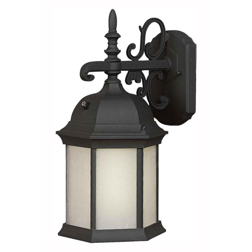 Talista Burton 1-Light Black Outdoor Fluorescent Wall Mount Light