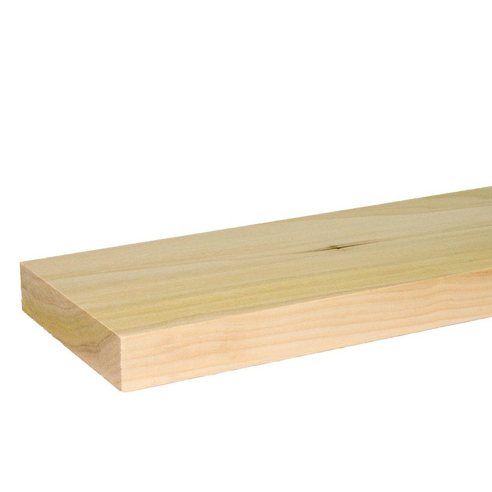 1 in. x 4 in. x 8 ft. S4S Poplar Board