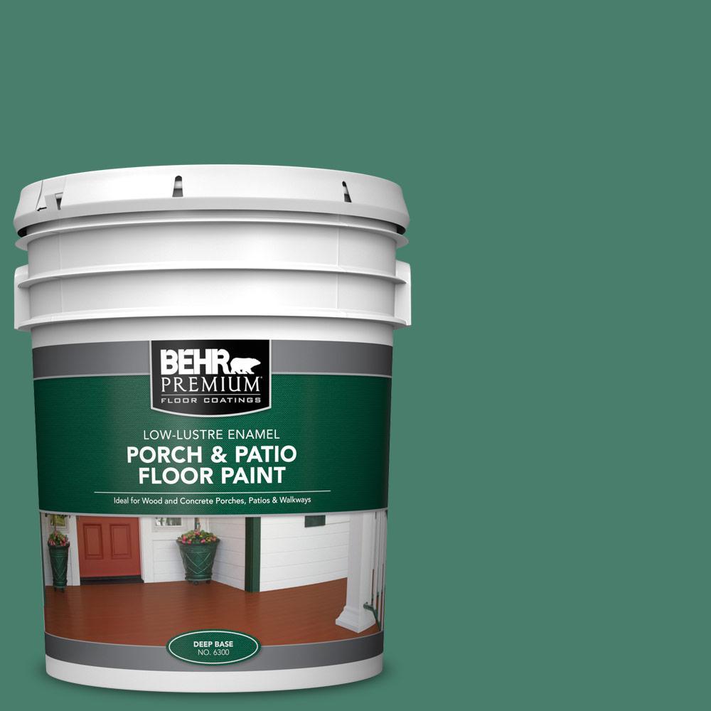 5 gal. #M430-6 Park Bench Low-Lustre Interior/Exterior Porch and Patio Floor Paint