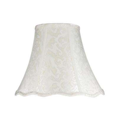 14 in. x 11.5 in. Off White Bell Lamp Shade