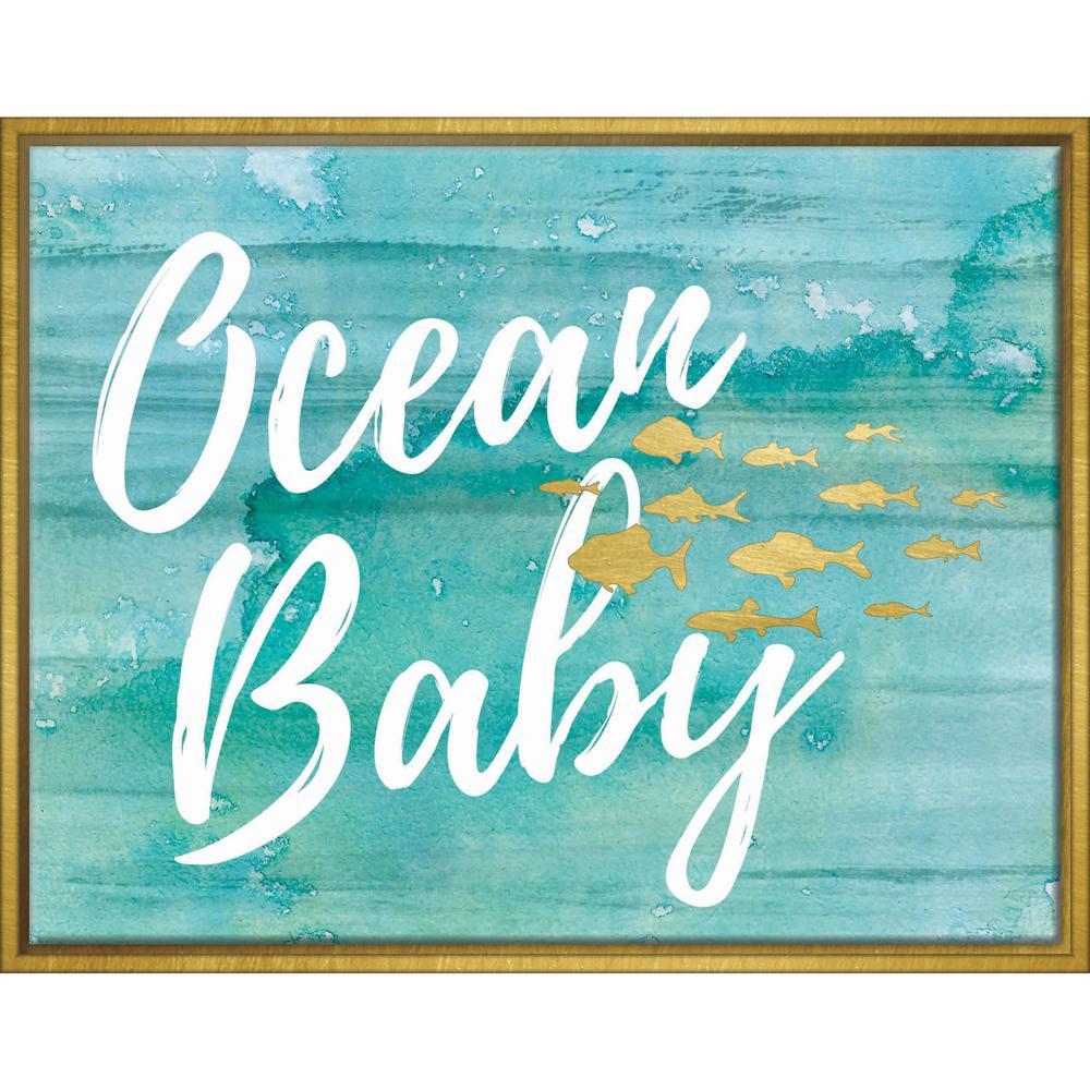 Ocean Baby 14 in. x 11 in. Framed Wall Art