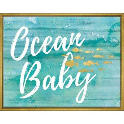 Ocean Baby 14 in. x 11 in. Framed Wall Art