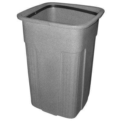 Slimline 50 Gal. Graystone Square Trash Can