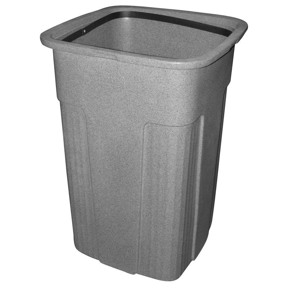 Slimline 50 Gal. Graystone Square Trash Can