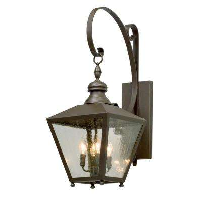 Mumford 4-Light Bronze Outdoor Wall Lantern Sconce