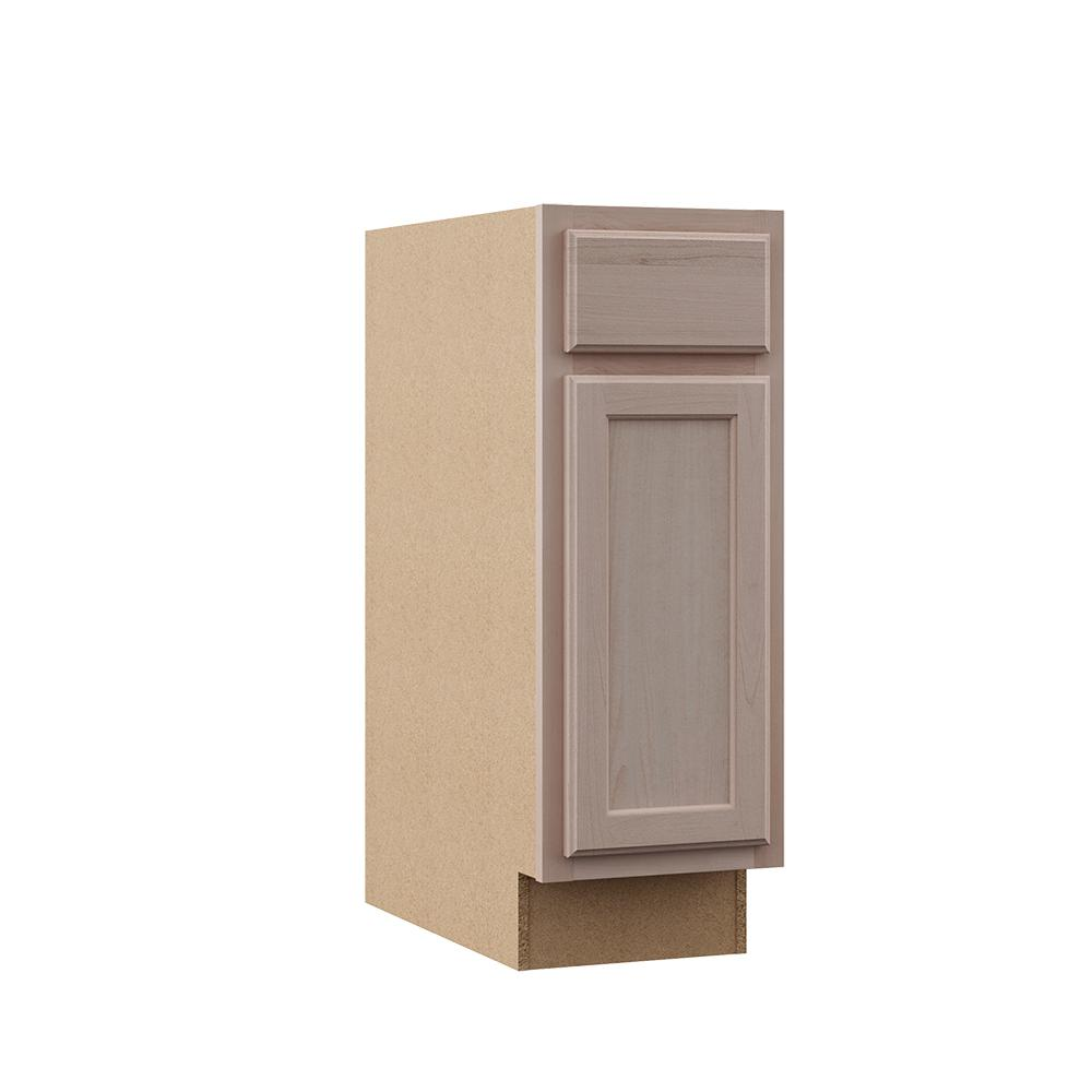 assembled 12x34 5x24 in base kitchen cabinet in unfinished beech rh homedepot com