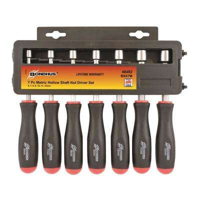Metric Hollow Shaft Nut Driver Set (7-Piece)