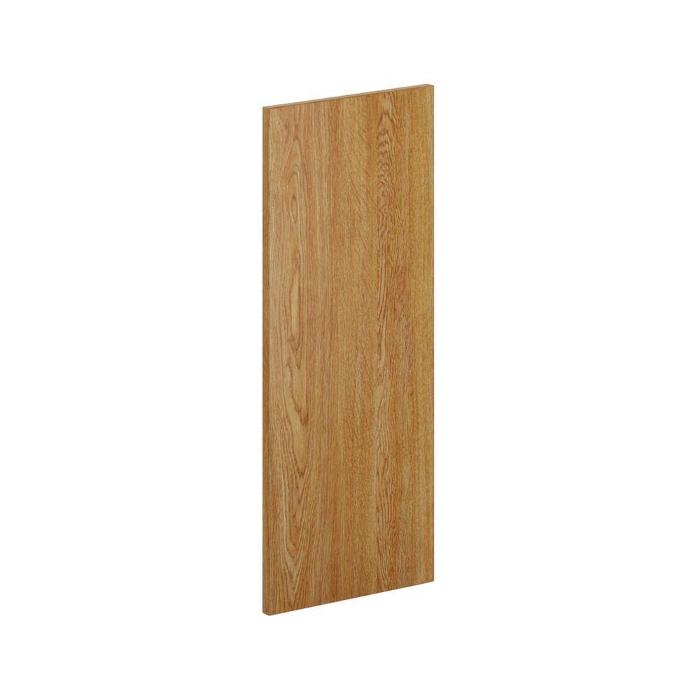 12 in. x 30 in. x.0.125 in. Kitchen Cabinet Flush-Fit End Panel in Warm Oak (2-Pack)