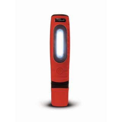 Rechargeable 360-Degree Double Pro Work Light and Torch, Red