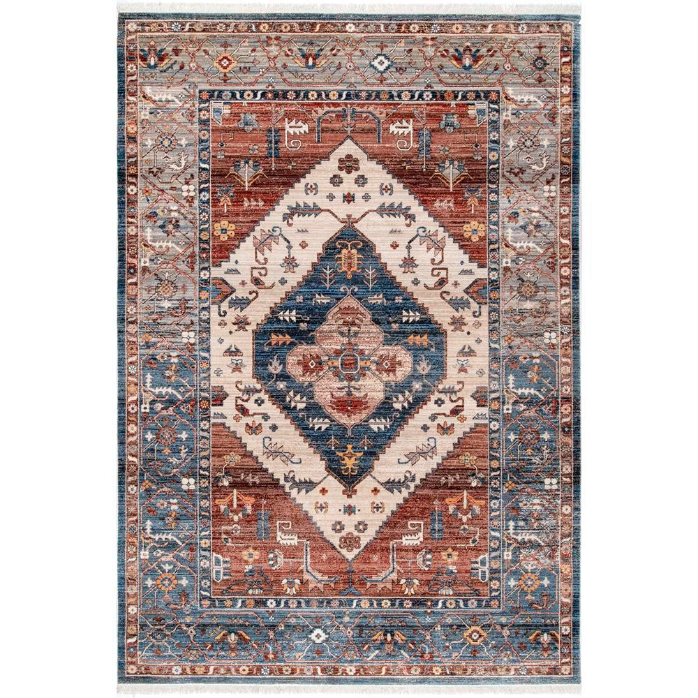 Nuloom Mabel Tribal Rust 9 Ft X 12 Ft Area Rug Khmc32a 9012 The Home Depot